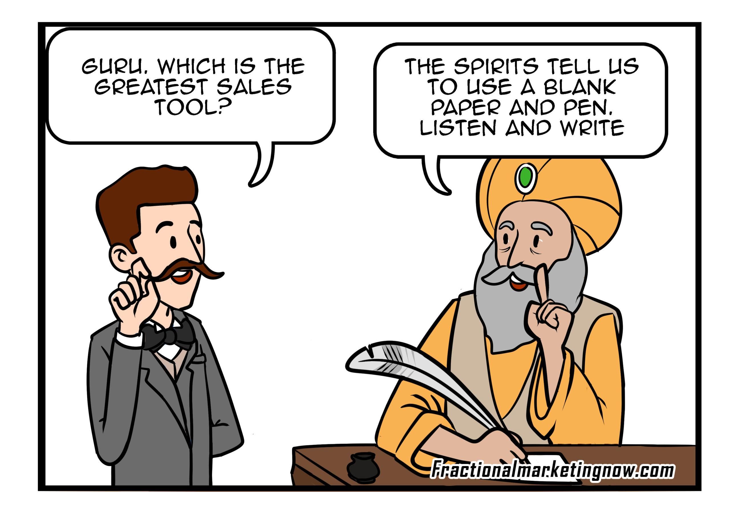 Marketing guru- best sales tool